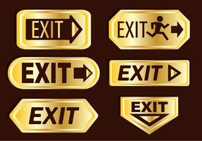 Emergency Exit Gold Icons