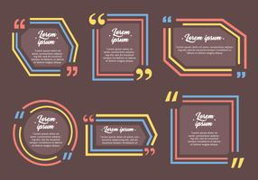White Testimonials Quote Design Template Vectors
