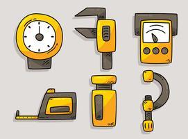 Vettore piacevole della raccolta degli strumenti di misura