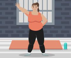 Fat Woman Vector