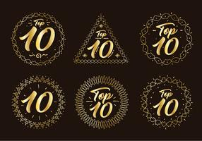 Goldener Top-Chart-Nummer-Vektor