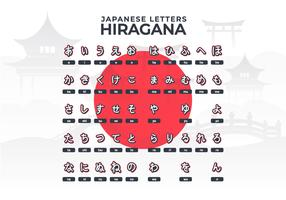 Japanese Letters Hiragana Alphabet