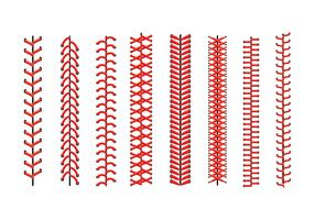 Baseball lace Icons vector