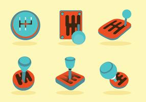 Gear Shift Knobs Vector Pack