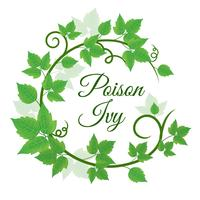 Green Poison Ivy Leaf Wreath Background vector