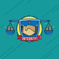 Integriteit Badge Vector