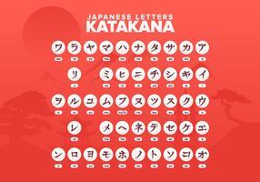 Japanse brieven Katakana-alfabet