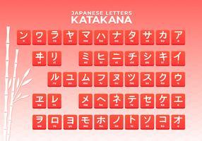 Japanska bokstäver katakana alfabetet