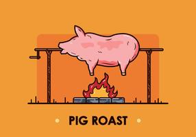 Vector de cerdo asado