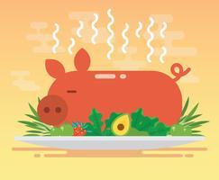 Pig Roast Illustration