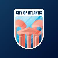 The Lost City Of Atlantis Sticker Design