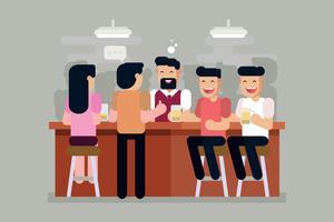 Crowded Bar Vector