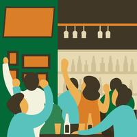 Bar Crowded Vector
