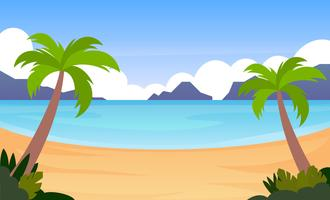 Awesome Tropical Landscape Player Vectores