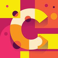 Letter C Typografi Illustration