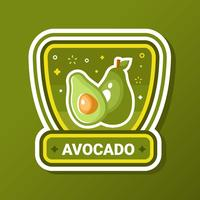 Avocado Badge Vector
