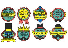 Happy Fathers day badge vector