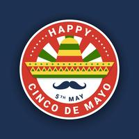 Cinco De Mayo Emblem Design