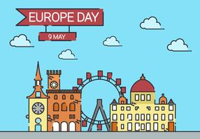 Europe Day Background Illustration