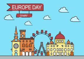 Europe Day Background Illustration