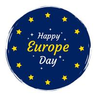 Happy Europe Day Vector Background