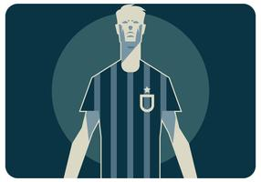 Abstract Soccer Player Standing Vector