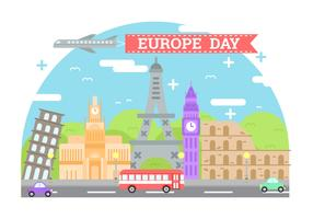 Illustrazione del fondo di Europa Day