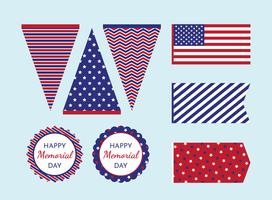 Memorial Day afdrukbare decoraties