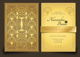 Oro Luxury Art Deco Wedding Invitation Vector Template Pack