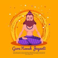 vetor de personagem de guru