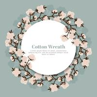 Vector Cotton Wreath