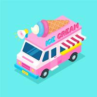 Isometric Food Truck Ice Cream