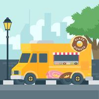 Donuts Truck Vector