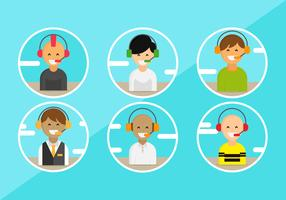 Customer Service Character Avatars