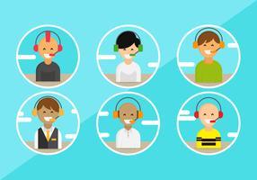 Avatares del personaje de servicio al cliente