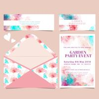 Vector Watercolor Card and Envelope