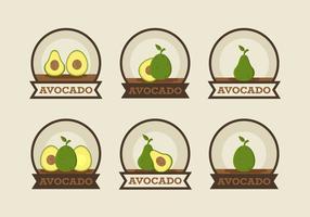 Coleção De Crachás De Abacate