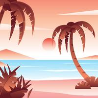 Vector de playa tropical