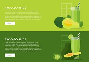 Avocado Juice Vector