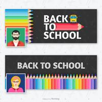 Teacher Facebook Cover Template Vector Set