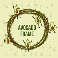 Avocado-Zeichen-Rahmen