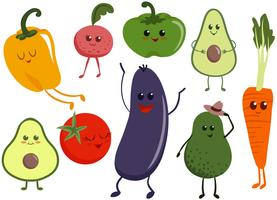 Vegetable Characters Vectors