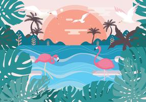 vector de paisaje tropical vol 2