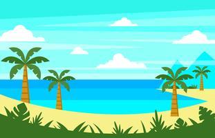 Vecteur de paysage de plage tropicale