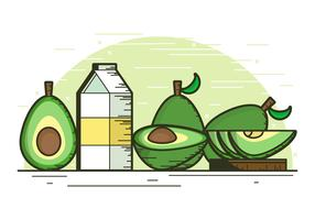 Avocado-Hintergrund-Illustration