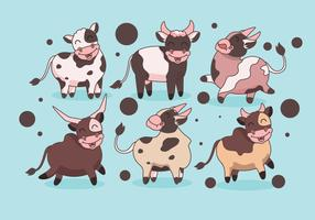 Super Cute Cattle Vector