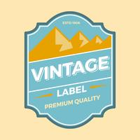 Vecteur de label plat Vintage