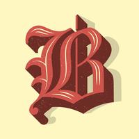 Vintage Letter B Typography Vector