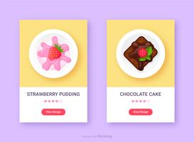 Dessert Food App Icon Set Vector