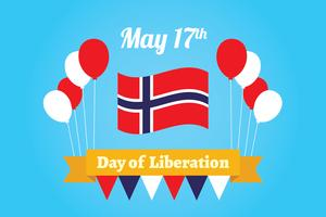 Norwegian Day of Liberation Background vector